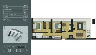 Samtida Istanbul Lägenheter i Ett Modernt Komplex, Planritningar-9
