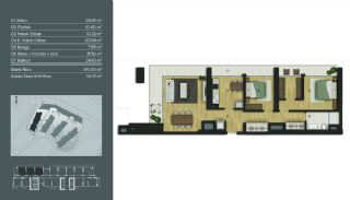 Samtida Istanbul Lägenheter i Ett Modernt Komplex, Planritningar-10
