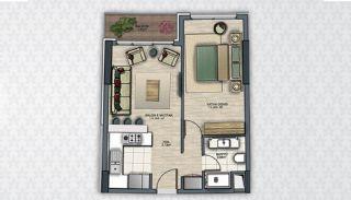 Современные Квартиры в Стамбуле Рядом с Инфраструктурой, Планировка -1