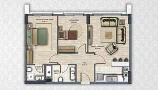 Современные Квартиры в Стамбуле Рядом с Инфраструктурой, Планировка -3