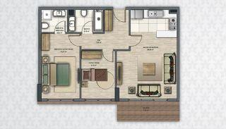 Современные Квартиры в Стамбуле Рядом с Инфраструктурой, Планировка -4