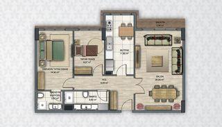 Современные Квартиры в Стамбуле Рядом с Инфраструктурой, Планировка -5
