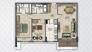 Современные Квартиры в Стамбуле Рядом с Инфраструктурой, Планировка -6