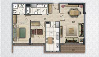 Современные Квартиры в Стамбуле Рядом с Инфраструктурой, Планировка -7