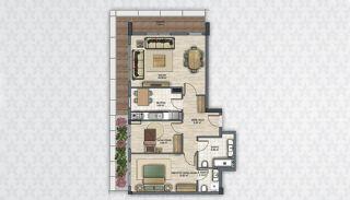 Современные Квартиры в Стамбуле Рядом с Инфраструктурой, Планировка -8