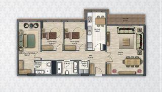 Современные Квартиры в Стамбуле Рядом с Инфраструктурой, Планировка -9