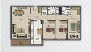 Современные Квартиры в Стамбуле Рядом с Инфраструктурой, Планировка -10