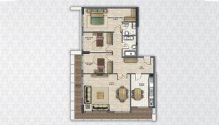 Современные Квартиры в Стамбуле Рядом с Инфраструктурой, Планировка -11