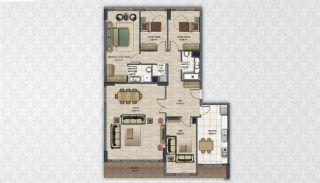 Современные Квартиры в Стамбуле Рядом с Инфраструктурой, Планировка -12