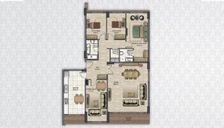 Современные Квартиры в Стамбуле Рядом с Инфраструктурой, Планировка -13