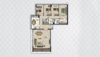 Современные Квартиры в Стамбуле Рядом с Инфраструктурой, Планировка -14