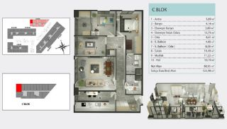 Central Flats Facing E-5 Highway in Istanbul Kucukcekmece, Property Plans-4