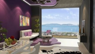 Sea View Flats with Jacuzzi and Terrace in Istanbul, Interior Photos-1