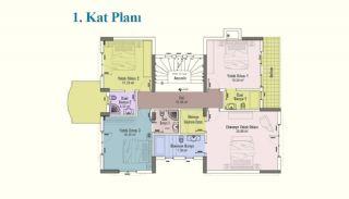 خانه های مستقل 2+7 فوق العاده بزرگ با آسانسور در استانبول, پلان ملک-3