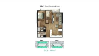 Profitable Flats in the Desirable Location of Istanbul, Property Plans-1