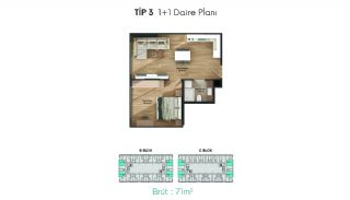 Profitable Flats in the Desirable Location of Istanbul, Property Plans-3