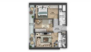 First Class Flats with 7-Star Hotel Concept in Istanbul, Property Plans-2
