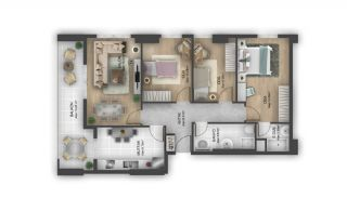 First Class Flats with 7-Star Hotel Concept in Istanbul, Property Plans-4