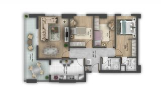 First Class Flats with 7-Star Hotel Concept in Istanbul, Property Plans-5