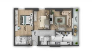 First Class Flats with 7-Star Hotel Concept in Istanbul, Property Plans-9