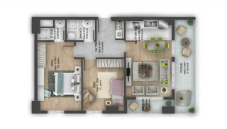 First Class Flats with 7-Star Hotel Concept in Istanbul, Property Plans-14