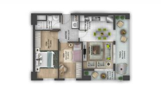 First Class Flats with 7-Star Hotel Concept in Istanbul, Property Plans-15