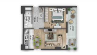 First Class Flats with 7-Star Hotel Concept in Istanbul, Property Plans-16