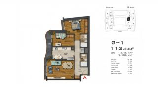 Recently Built Apartments 300 m to TEM Highway in Istanbul, Property Plans-2