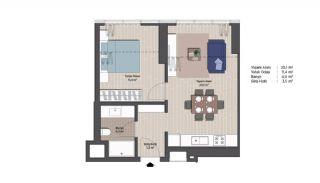 Первоклассные Квартиры в Финансовом Центре Стамбула, Планировка -3