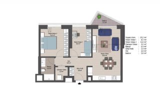 Appartements Classe Dans Le Centre de Financier d'Istanbul, Projet Immobiliers-4