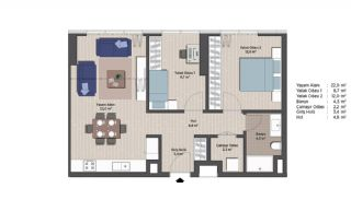 First-Class Apartments in the Finance Center of Istanbul, Property Plans-5