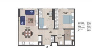 Первоклассные Квартиры в Финансовом Центре Стамбула, Планировка -5