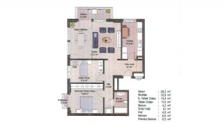 First-Class Apartments in the Finance Center of Istanbul, Property Plans-8