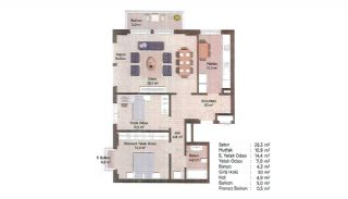 First-Class Apartments in the Finance Center of Istanbul, Property Plans-10