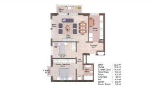 Первоклассные Квартиры в Финансовом Центре Стамбула, Планировка -10