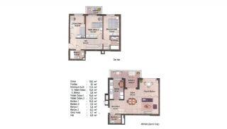 Первоклассные Квартиры в Финансовом Центре Стамбула, Планировка -11