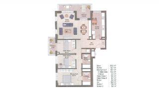 Первоклассные Квартиры в Финансовом Центре Стамбула, Планировка -12