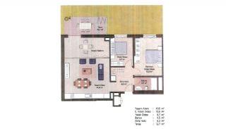Первоклассные Квартиры в Финансовом Центре Стамбула, Планировка -14