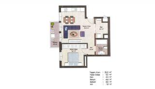 Первоклассные Квартиры в Финансовом Центре Стамбула, Планировка -16