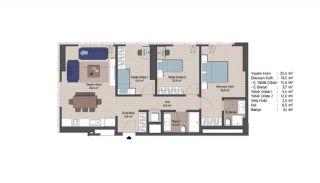 Первоклассные Квартиры в Финансовом Центре Стамбула, Планировка -17