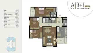 Well-Located Turnkey Apartments in Istanbul Eyup, Property Plans-1
