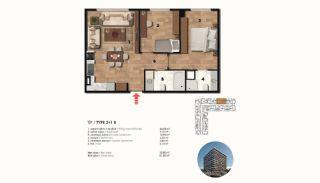 Historical Designed Apartments in Istanbul Zeytinburnu, Property Plans-15