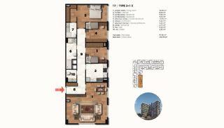 Historical Designed Apartments in Istanbul Zeytinburnu, Property Plans-16