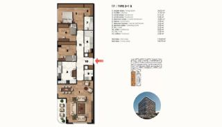 Historical Designed Apartments in Istanbul Zeytinburnu, Property Plans-19