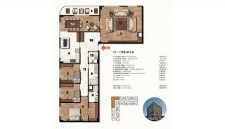 Historical Designed Apartments in Istanbul Zeytinburnu, Property Plans-21