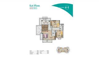 Bahçeşehir'de Muhteşem Manzaraya Sahip Konforlu Daireler, Kat Planları-12