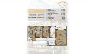 Sea View Apartments Close to the Marina in Istanbul, Property Plans-1