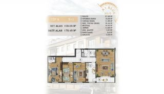 Sea View Apartments Close to the Marina in Istanbul, Property Plans-2