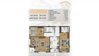 Sea View Apartments Close to the Marina in Istanbul, Property Plans-3