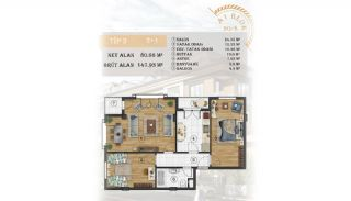 Sea View Apartments Close to the Marina in Istanbul, Property Plans-4